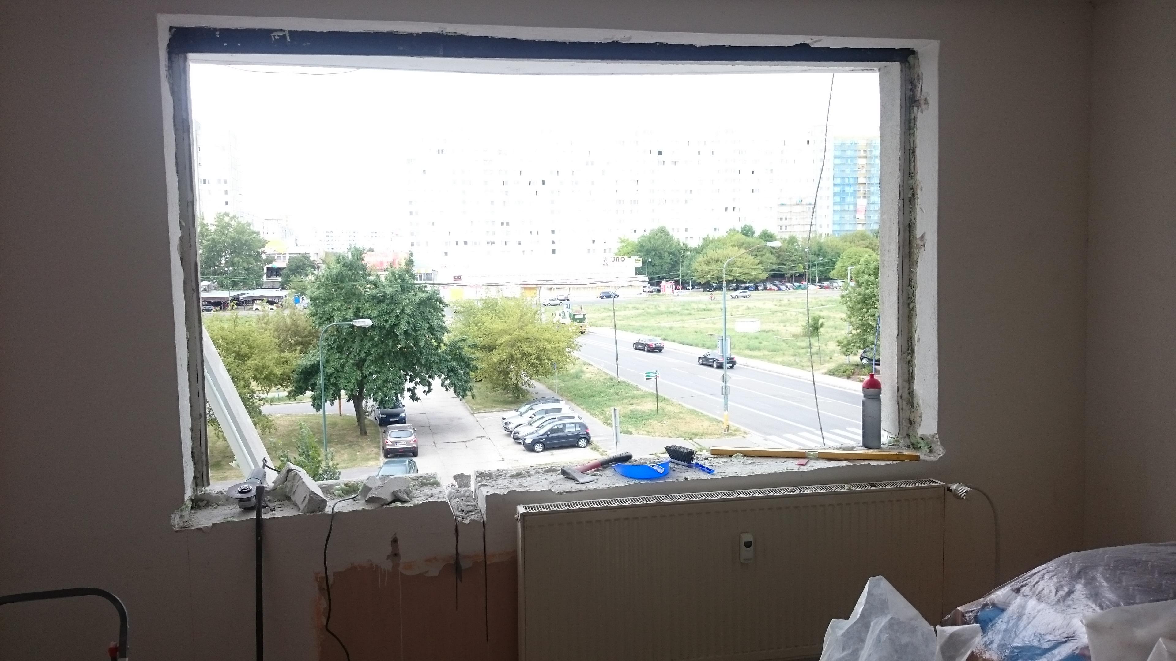 Vyrezanie otvoru balkón 2