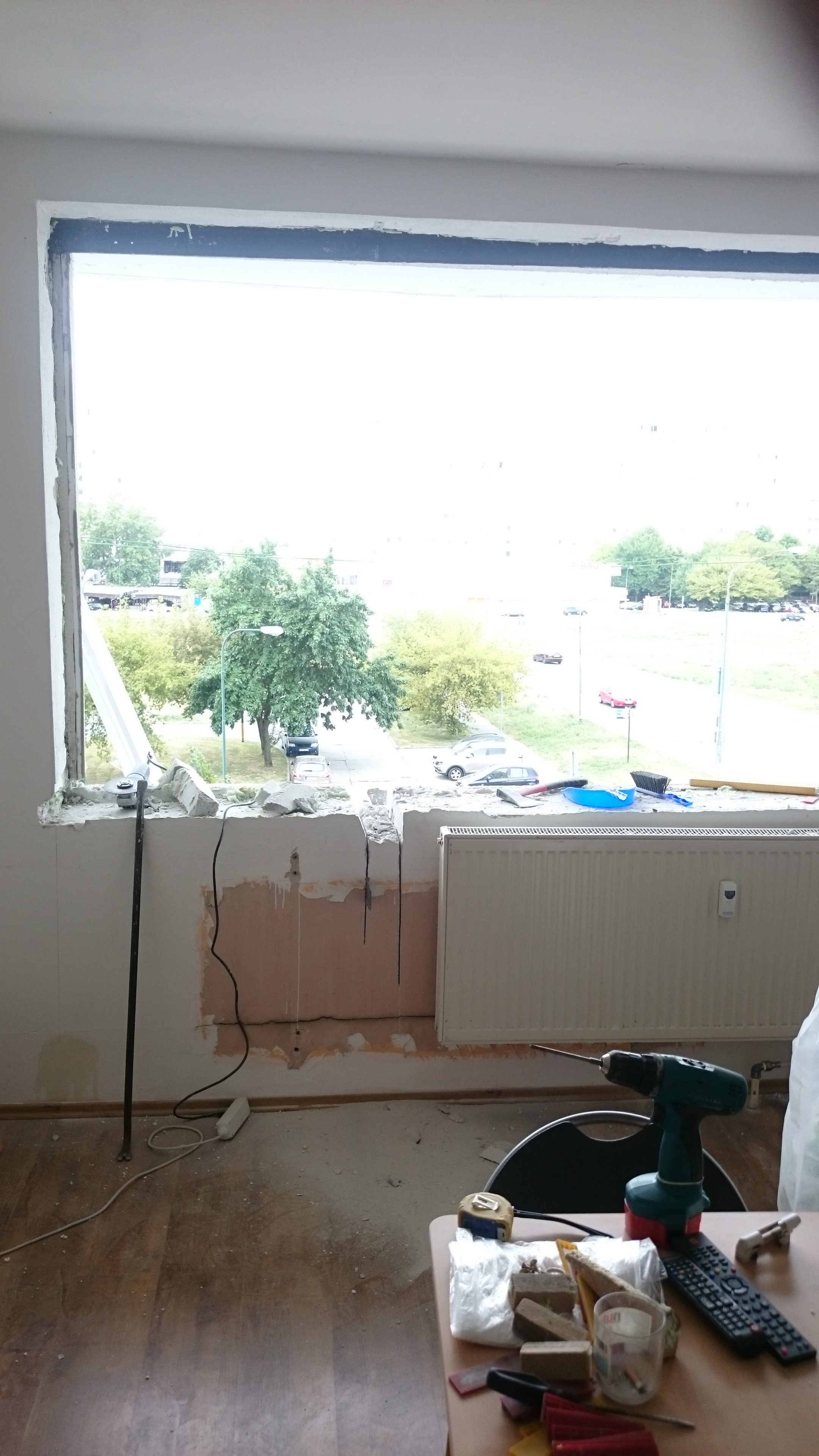 Vyrezanie otvoru balkón 1